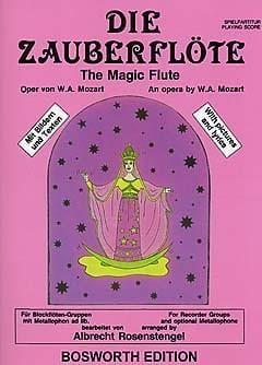 Wolfgang Amadeus Mozart - Die Zauberflöte - Ensemble Fl. A Bec (+ Percu) - Partition - di-arezzo.fr