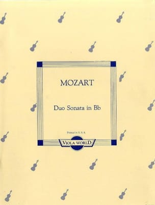 MOZART - Duo-Sonata in Bb KV 292 - 2 Violas - Sheet Music - di-arezzo.com