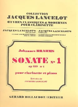Sonate n° 1 opus 120/ 1 - Clarinette piano - BRAHMS - laflutedepan.com