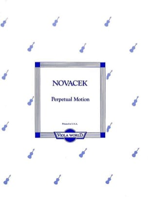 Ottokar Novacek - Perpetual Motion – Alto - Partition - di-arezzo.fr