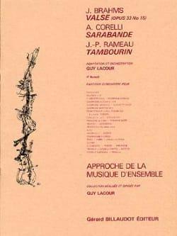 Brahms Johannes / Corelli Arcangelo / Rameau Jean-Philippe - Valse Op. 39 N° 15 / Sarabande / Tambourin - Partition - Partition - di-arezzo.fr