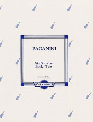 Niccolò Paganini - 6 Sonatas, book 2 – Viola - Partition - di-arezzo.fr