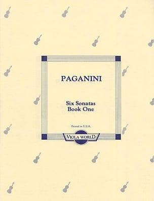6 Sonatas, book 1 – Viola - Niccolò Paganini - laflutedepan.com