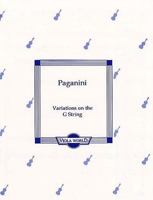 Niccolo Paganini - Variations On The G-String - Viola - Partition - di-arezzo.fr