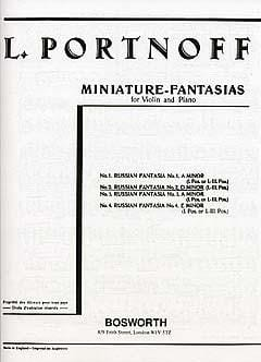 Leo Portnoff - Fantasy russo N ° 2 in re minore - Partitura - di-arezzo.it