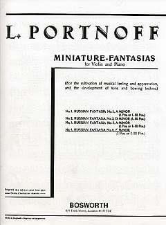 Leo Portnoff - Russian Fantasy N ° 4 in E Minor - Sheet Music - di-arezzo.co.uk