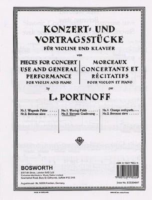 Leo Portnoff - Slavic lullaby - Sheet Music - di-arezzo.co.uk