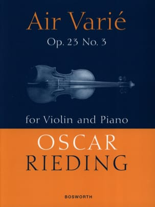 Oskar Rieding - Varied Air Opus 23 N ° 3 - Partitura - di-arezzo.it