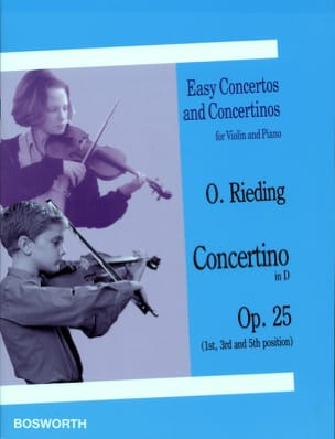 Oskar Rieding - Concertino Opus 25 en Ré - Partition - di-arezzo.fr