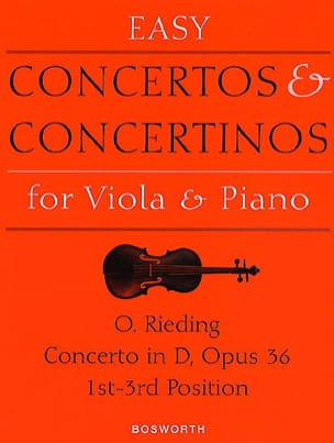 Oskar Rieding - Concerto op. 36 D-Dur – Viola - Partition - di-arezzo.fr