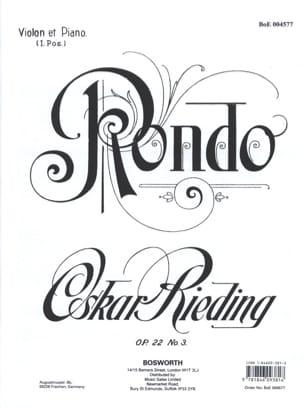 Rondo op. 22 n° 3 Oskar Rieding Partition Violon - laflutedepan