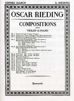 Oskar Rieding - Zigeunermarsch op. 23 n ° 2 - Sheet Music - di-arezzo.co.uk