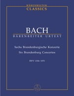 BACH - Sechs Brandenburgische Konzerte BWV 1046-1051. Urtext of the Neuen Bach-Ausgabe - Sheet Music - di-arezzo.co.uk