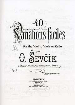 Sevcik Otakar / Trnecek H. - 40 Easy Variations Opus 3 - Piano Acc. - Sheet Music - di-arezzo.co.uk