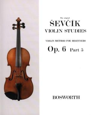 Etudes Opus 6 / Partie 5 - Violon - Otakar Sevcik - laflutedepan.com