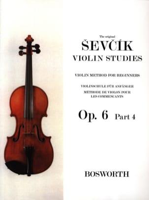 Etudes Opus 6 / Partie 4 - Violon - Otakar Sevcik - laflutedepan.com