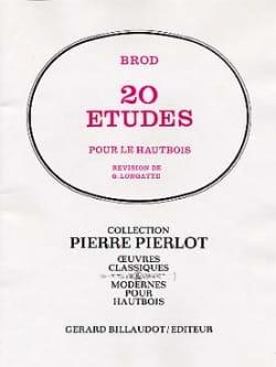 Henri Brod - 20 Etudes - Hautbois - Partition - di-arezzo.fr