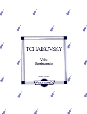 TCHAIKOVSKY - Sentimental Waltz - Alto - Sheet Music - di-arezzo.co.uk