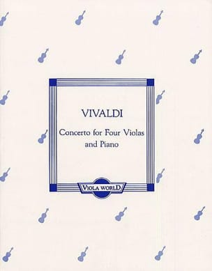 Antonio Vivaldi - Concerto for 4 Violas and piano - Partition - di-arezzo.fr