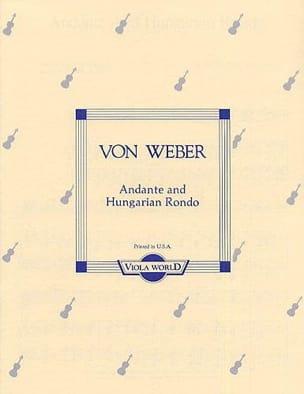 Carl Maria von Weber - Andante and Hungarian rondo - Viola - Partition - di-arezzo.fr