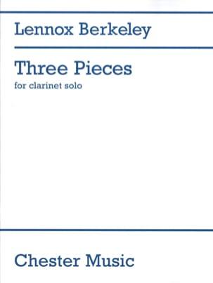 3 Pieces - Clarinet solo Lennox Berkeley Partition laflutedepan