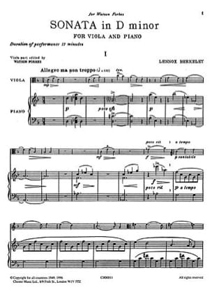 Sonate en ré mineur Op. 22 - Alto et Piano - laflutedepan.com