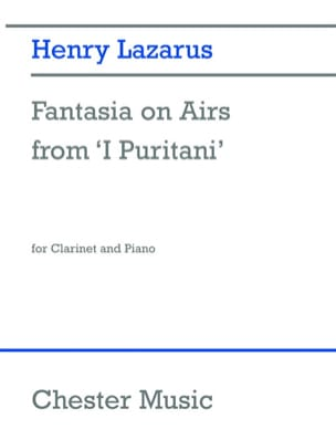 Fantasia on airs from I Puritani Henry Lazarus Partition laflutedepan