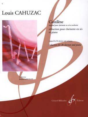 Louis Cahuzac - Cantilène - Partition - di-arezzo.fr