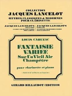 Fantaisie variée - Louis Cahuzac - Partition - laflutedepan.com