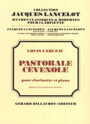 Pastorale cévenole Louis Cahuzac Partition Clarinette - laflutedepan
