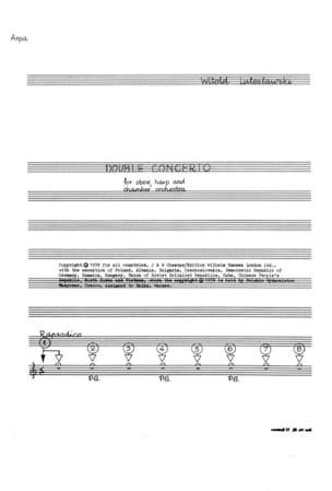 Witold Lutoslawski - Double Concerto – Score - Partition - di-arezzo.fr
