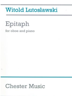 Witold Lutoslawski - Epitaph - Sheet Music - di-arezzo.co.uk