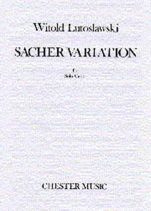 Witold Lutoslawski - Sacher Variation - Sheet Music - di-arezzo.co.uk