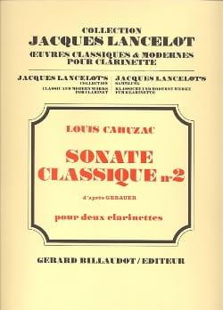 Louis Cahuzac - Sonate classique n° 2 - Partition - di-arezzo.fr