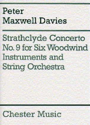 Davies Peter Maxwell - Strathclyde Concerto N° 9 – 6 Woodwind instruments piano - Partition - di-arezzo.fr