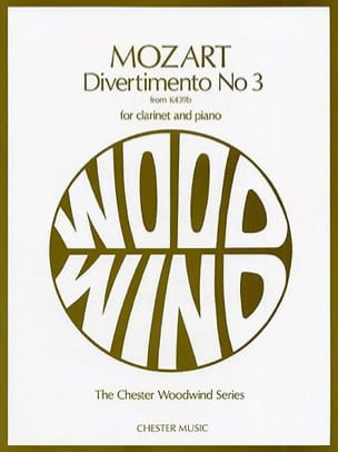 MOZART - Divertimento n ° 3 KV 439b - Clarinet and piano - Sheet Music - di-arezzo.com