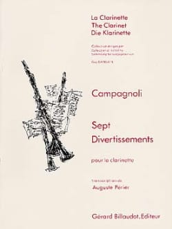 Bartolomeo Campagnoli - 7 Divertissements – Clarinette - Partition - di-arezzo.fr