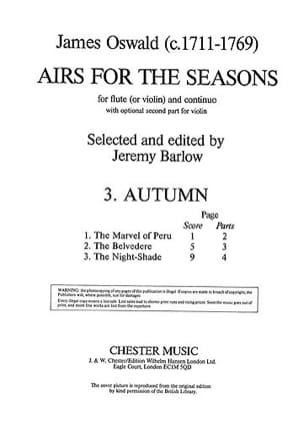 James Oswald - Airs for the Seasons (3. Autumn) - Partition - di-arezzo.fr