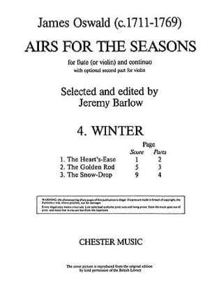 James Oswald - Airs for the seasons 4. Winter - Partition - di-arezzo.fr