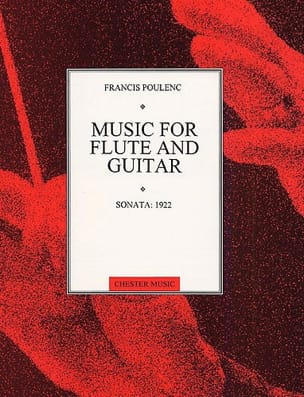 Francis Poulenc - Sonata 1922 - Flûte guitare - Partition - di-arezzo.fr