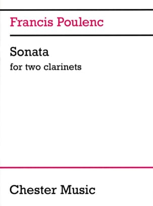 Francis Poulenc - Sonata for 2 clarinets - Sheet Music - di-arezzo.com