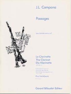 Passages Jose-Luis Campana Partition Clarinette - laflutedepan