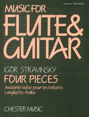 4 Pièces - Flûte guitare - STRAVINSKY - Partition - laflutedepan.com