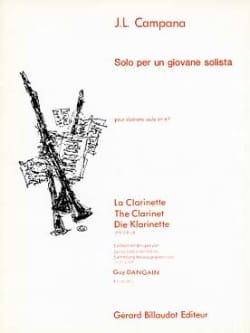 Jose-Luis Campana - Solo Per un Giovane Solista - Partition - di-arezzo.fr