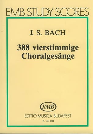 388 Chorals - Conducteur - BACH - Partition - laflutedepan.com