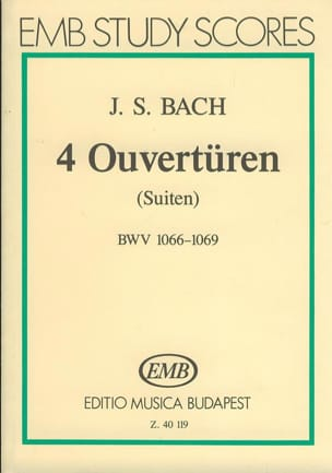 BACH - 4 Ouvertüren Suiten BWV 1066-1069 - Partitur - Sheet Music - di-arezzo.com