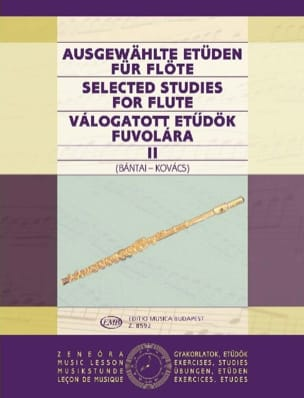 Bantai Vilmos / Kovacs Gabor - Selected Studies For Flute Volume 2 - Partition - di-arezzo.fr
