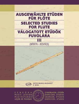 Bantai Vilmos / Kovacs Gabor - Selected studies for flute - Volume 3 - Sheet Music - di-arezzo.co.uk
