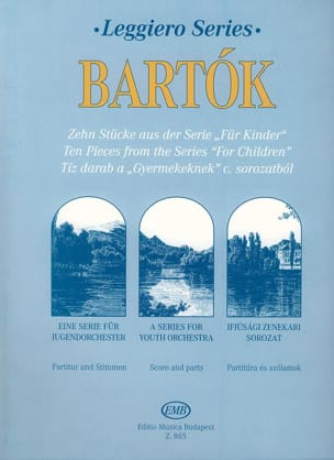 Béla Bartok - 10 pieces from For Children - String orch. - Partition - di-arezzo.fr