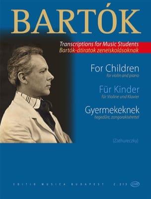 Pour les Enfants Gyermekeknek BARTOK Partition Violon - laflutedepan